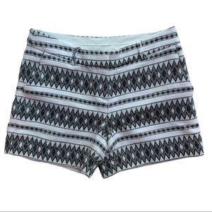 Artisan NY Black and White Cloth Shorts Sz 2